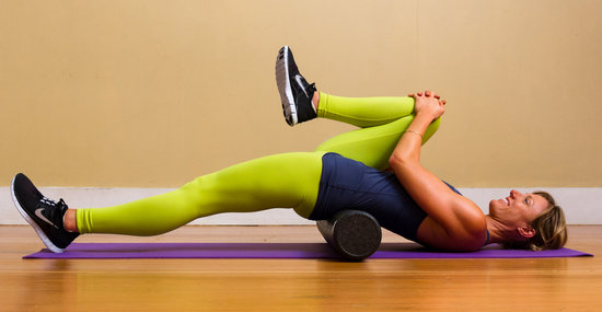 psoas stretch with a roller
